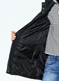 Vero Moda Kapüşonlu Uzun Mont Siyah